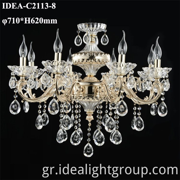 candle crystal lighting